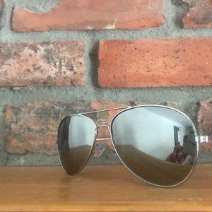 Other - 2/$20 Silver grey mirror aviator sunglasses